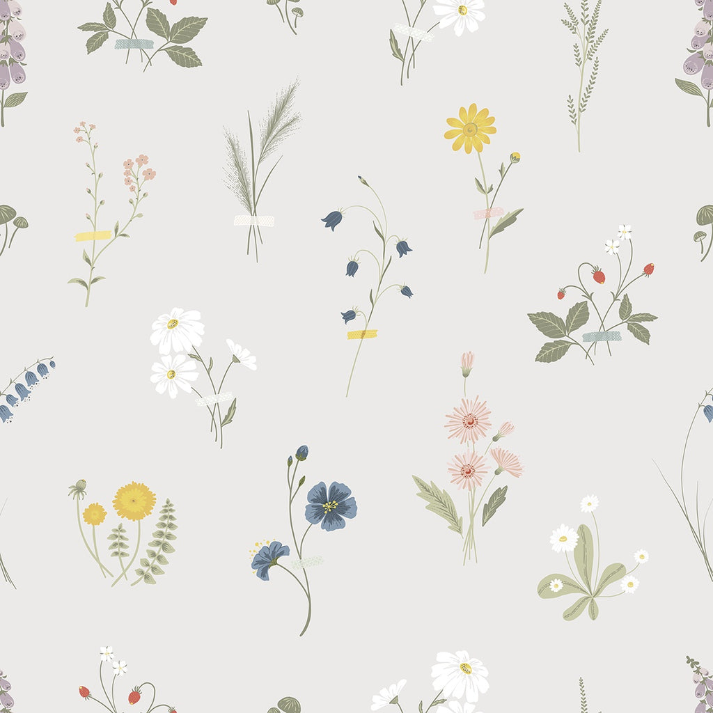 Wallpaper <br/> Wildflowers <br/> Multicolor