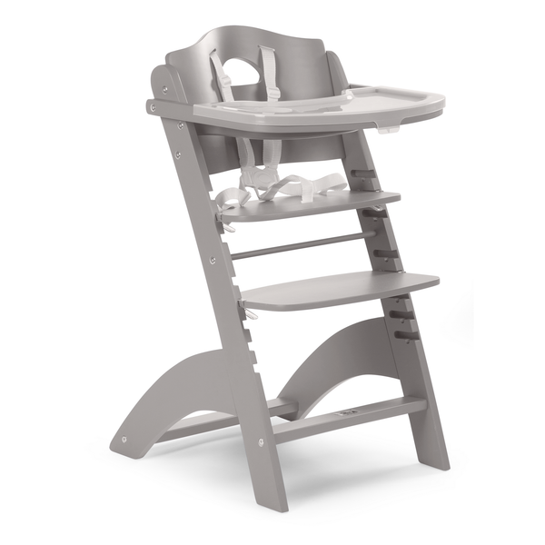 lambda high chair from 6 month to 85kg. In Stone grey