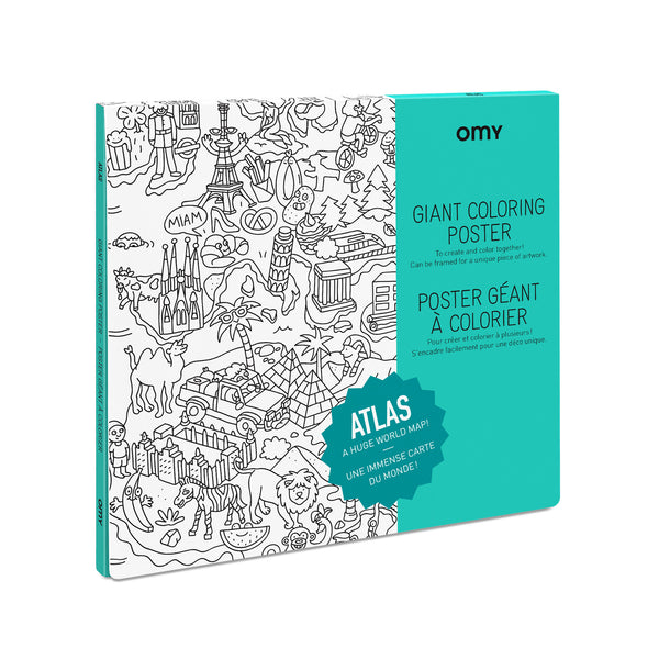 Atlas Coloring Poster from OMY