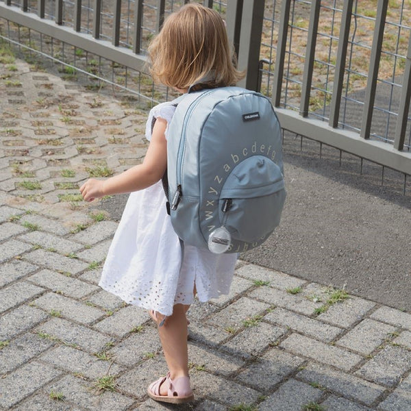 Kids School <br/> Backpack ABC <br/> Grey Off White