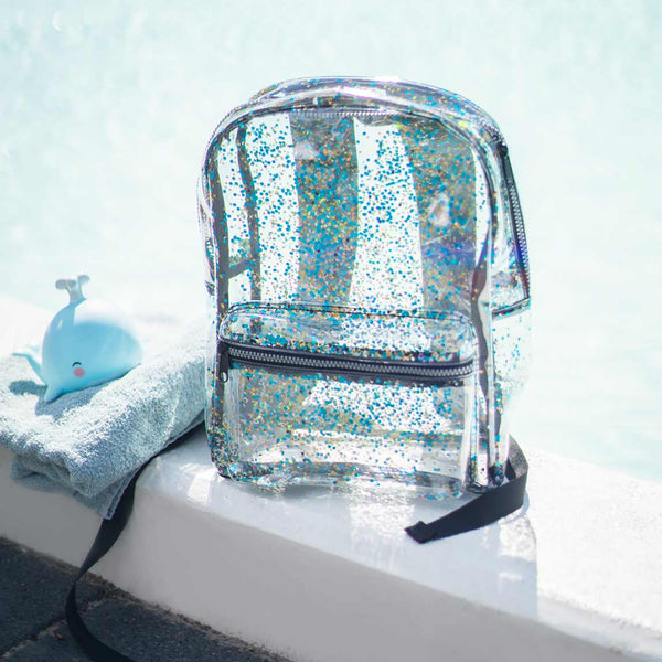Backpack <br/> Glitter <br/> transparent/black