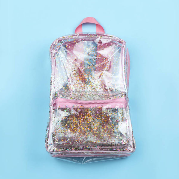 Backpack <br/> Glitter <br/> transparent/pink