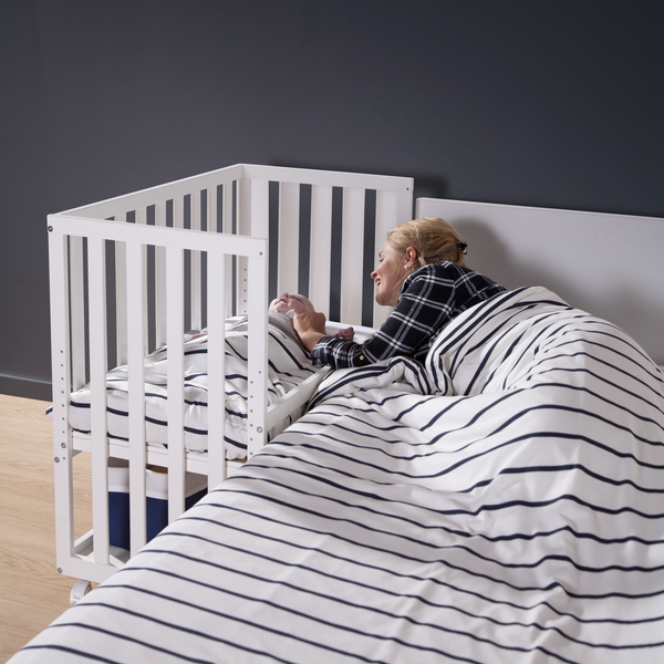 adjustable bedside crib from childhome