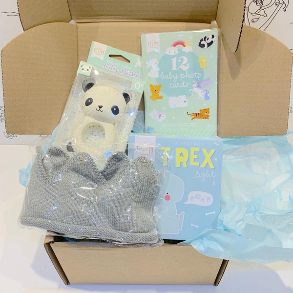 Baby<br/> gift box <br/> Welcome little boy