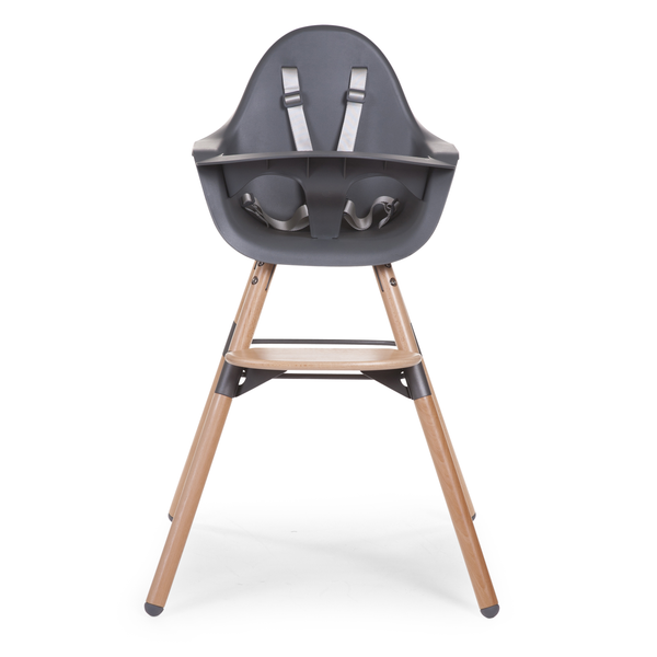 Natural Anthracite 2-in-1 Chair with Bumper from Childhome