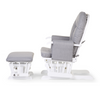 Gliding Chair Round Beech Canvas <br/> Grey With Footrest