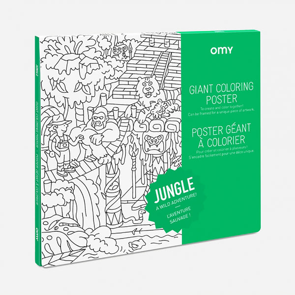 Jungle Coloring Poster from OMY