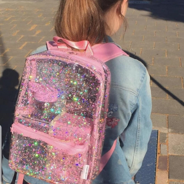 Backpack <br/> Glitter Transparent <br/> Pink