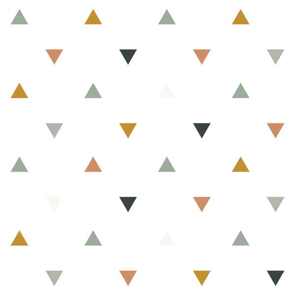 Multicolored Triangles Wallpaper from Lilipinso