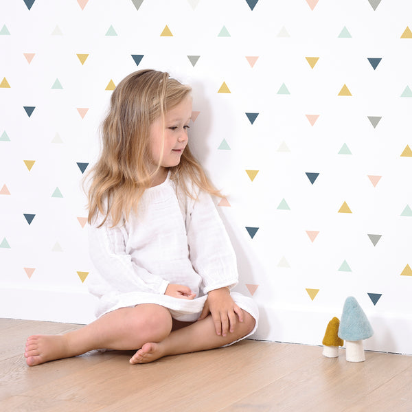 Pastel Multicolored Triangles Wallpaper from Lilipinso