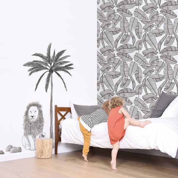 Tropical Leaves Wallpaper from Lilipinso