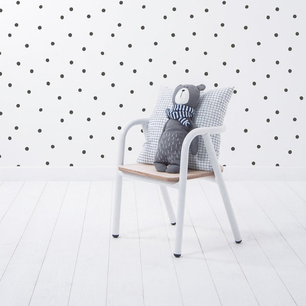 Wallpaper <br/> Playful Dots <br/> White