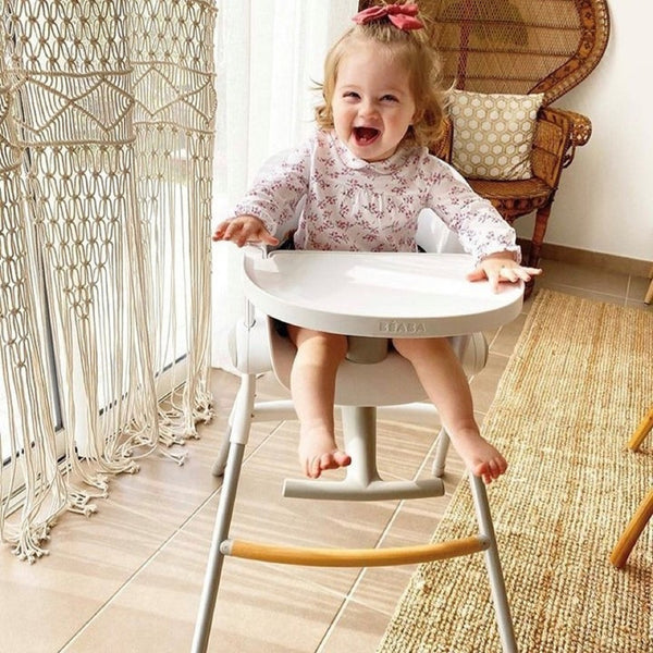 Highchair <br/> Up and Down <br/> Grey and White