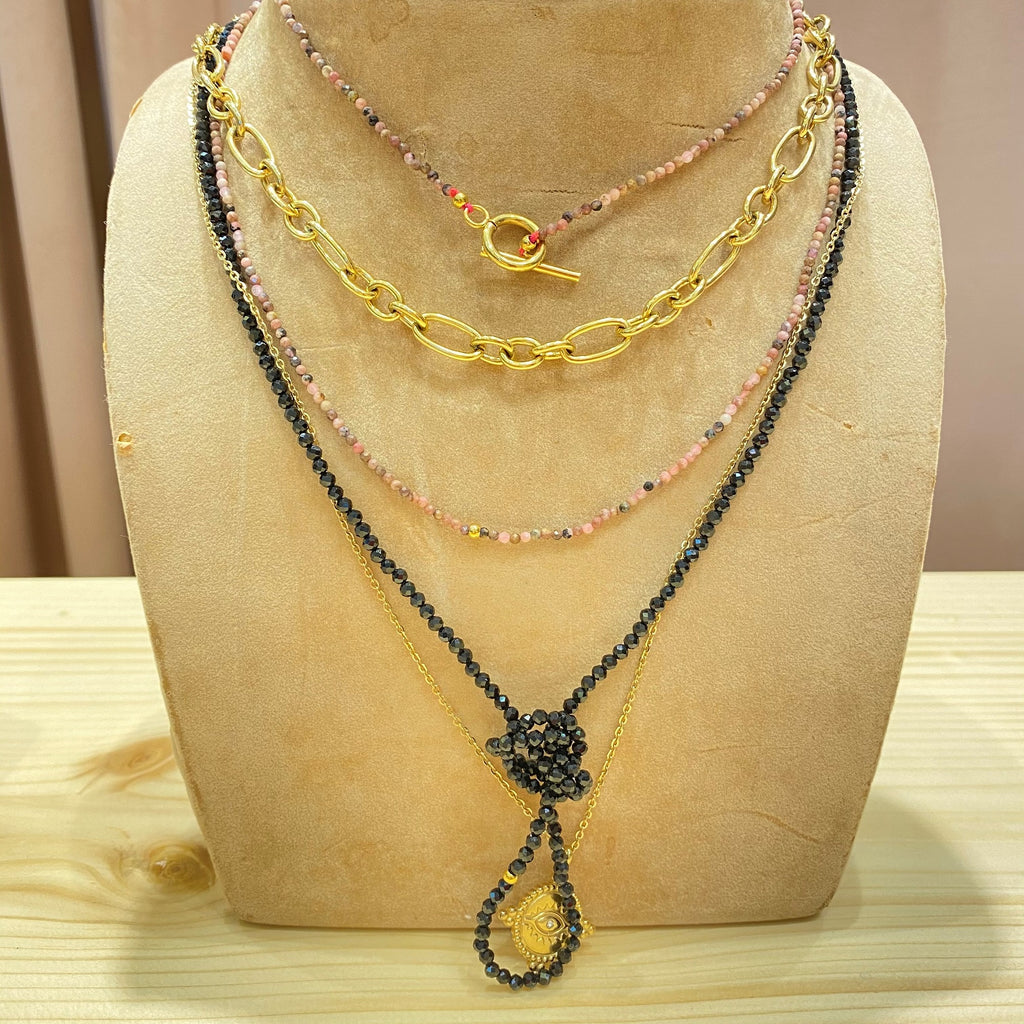 MM Short <br/> Necklace <br/> Round Figaro