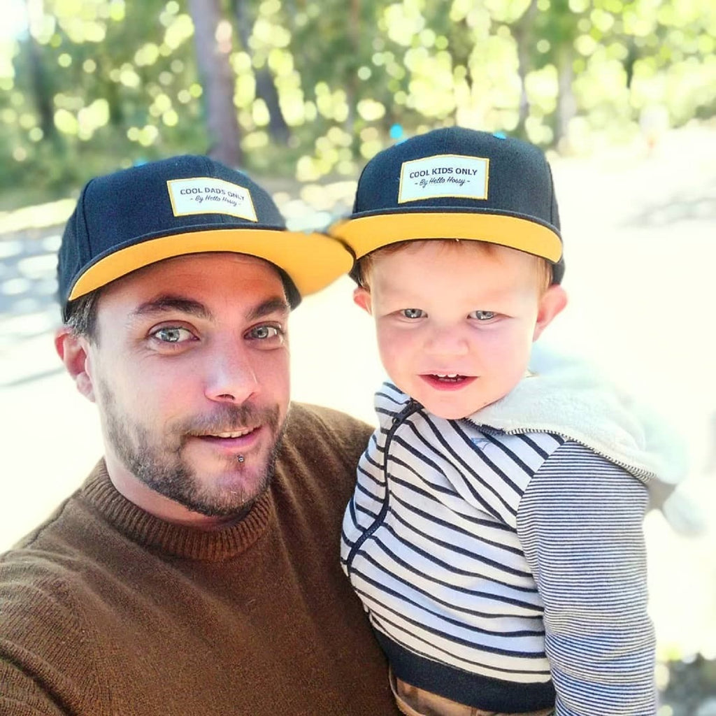 Mini Black <br/> Cap <br/> KIDS and Dad