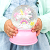 Pink Snowglobe with unicorn figure