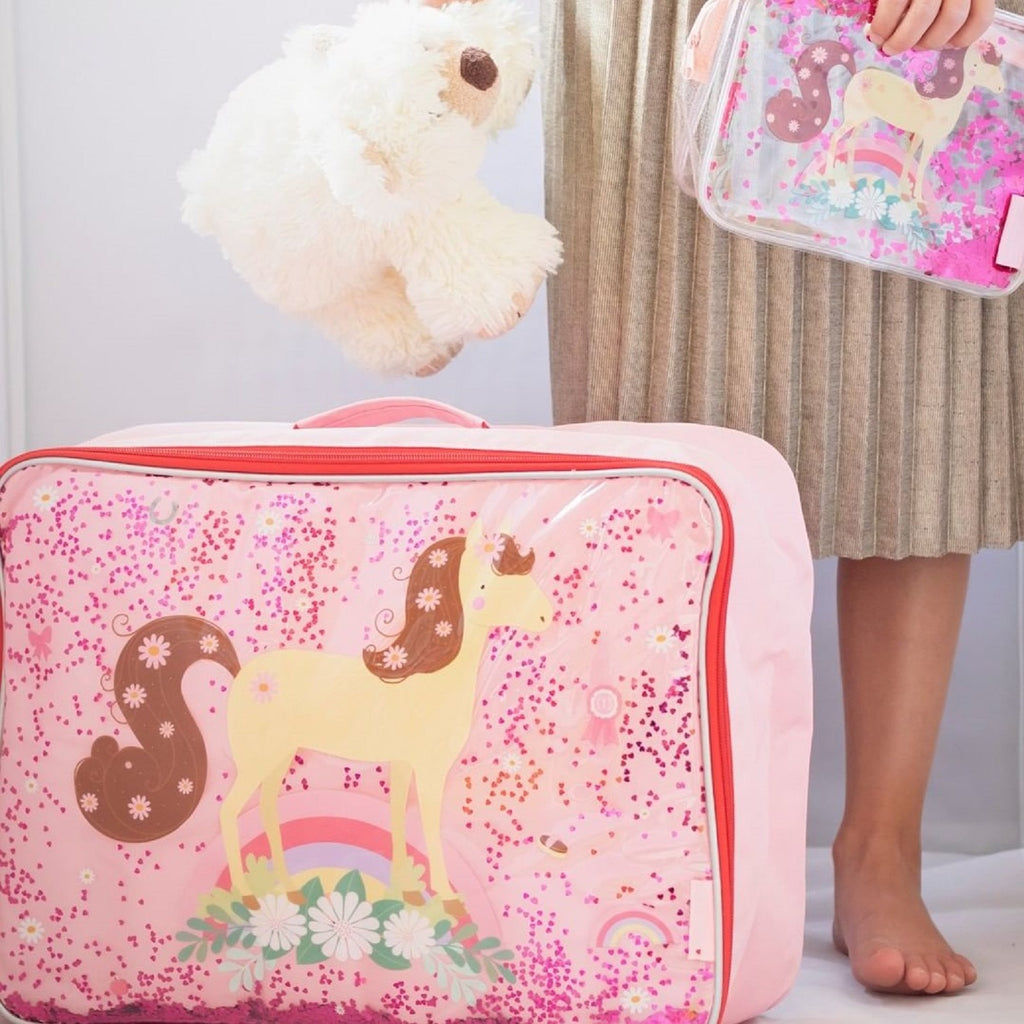 Suitcase <br/> Glitter <br/> Horse