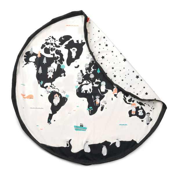 Playmat and <br/> Storage Bag <br/> World Map