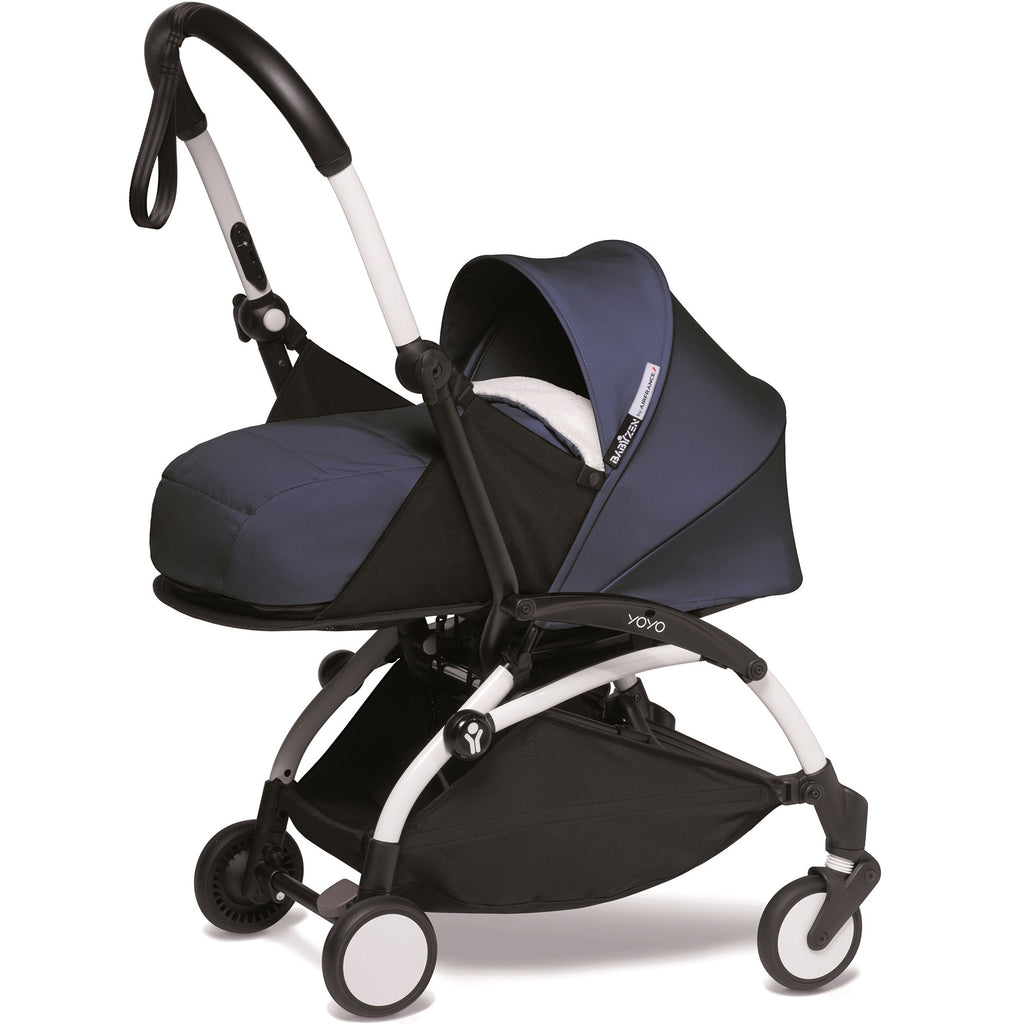 Stroller New born<br/>White frame<br/>Air France Blue