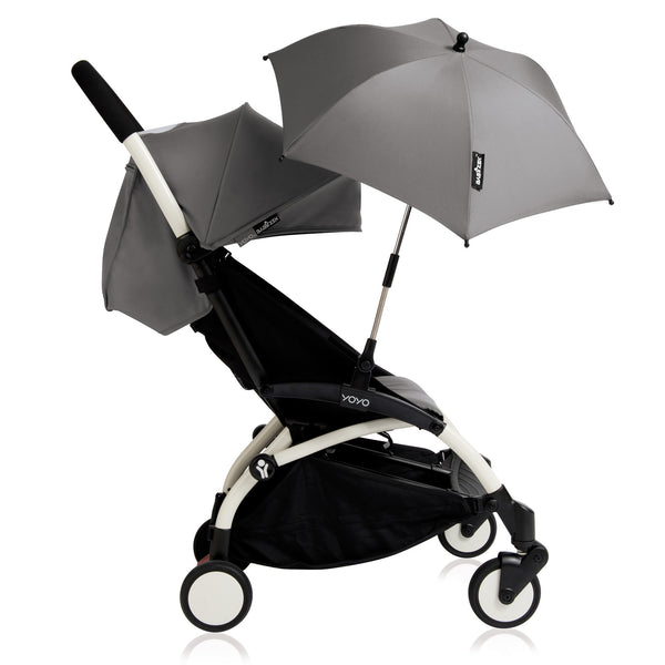 Attachable umbrella for the stroller in grey