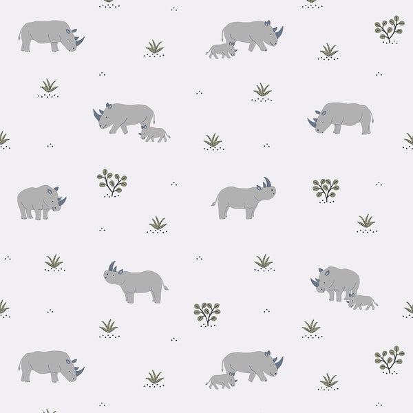 Wallpaper <br/> Rhinoceros <br/> Tribe