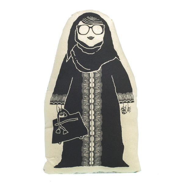 Character <br/> Cushion <br/> Khaleeji Abaya Lady