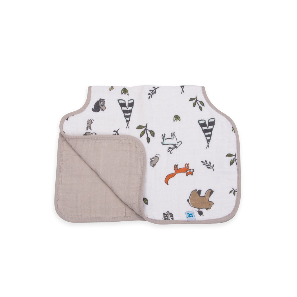 Cotton Muslin <br/> Burp Cloth <br/> Forest Friends