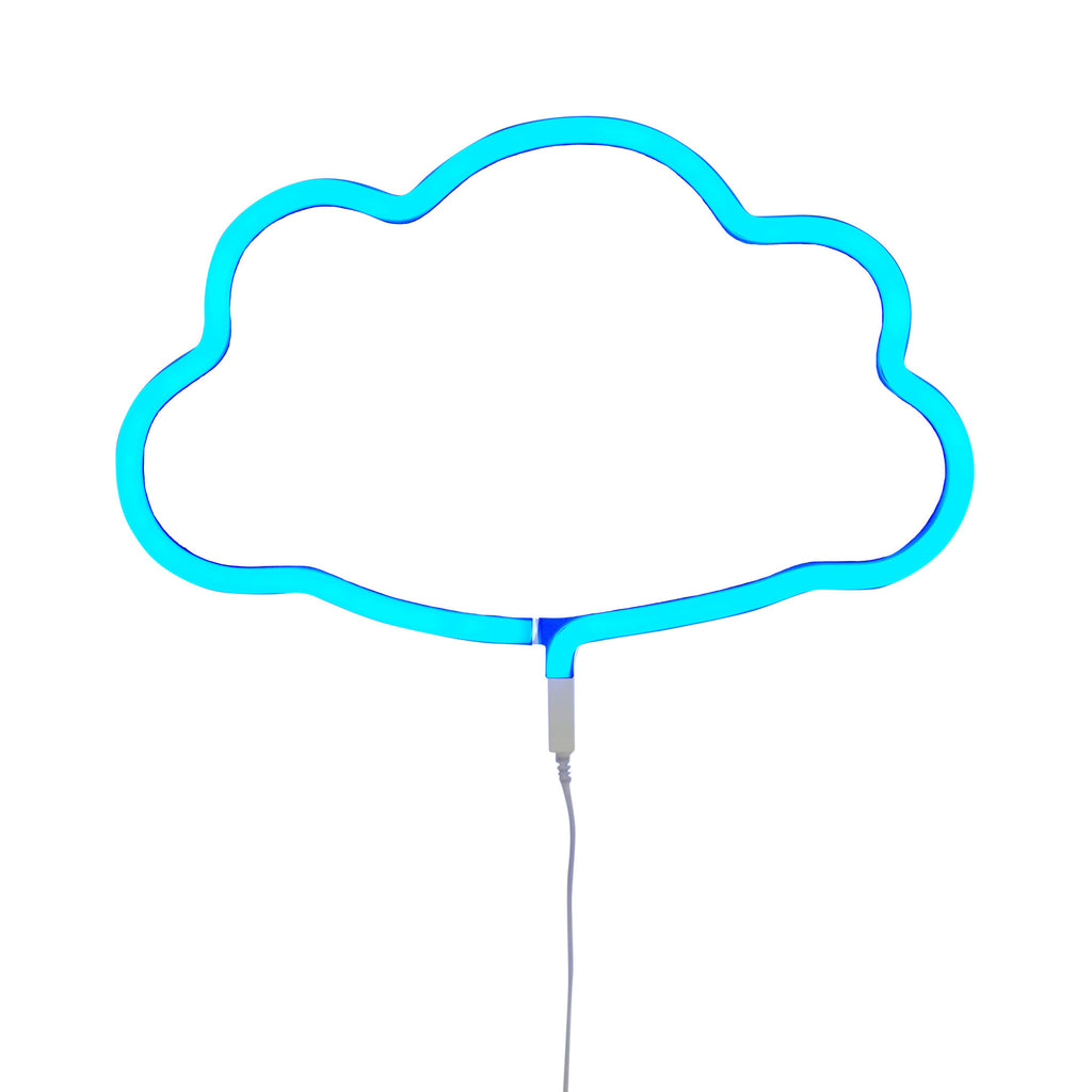 Blue cloud neon light