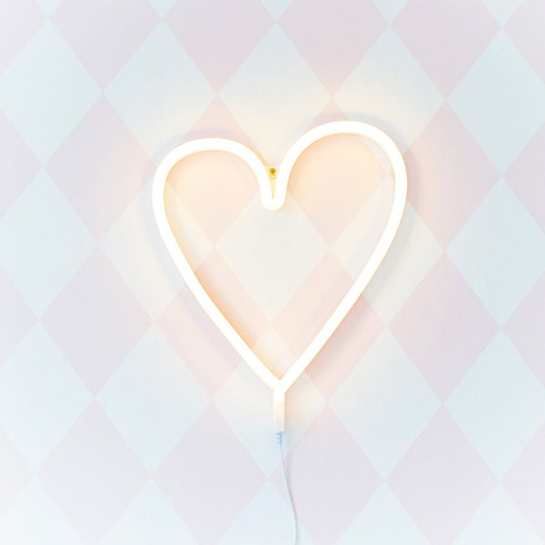 Neon Light<br/>Yellow Heart