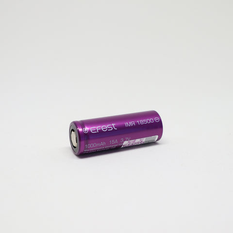 Efest - IMR 18500 15A Flat Top 1000mAh Battery