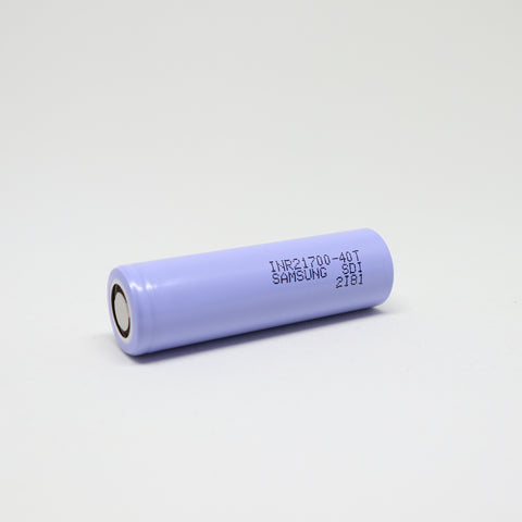 Samsung - 40T 21700 30A Flat Top 4000mAh Battery