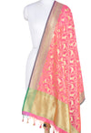 Art silk Banarasi dupatta with bird motifs
