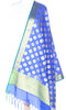 Blue Art Silk Banarasi dupatta with Artistic Boota SSRVD01N111 (1) Main