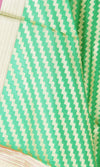 Green Art Silk Banarasi Dupatta with diagonal zigzag stripes SSRVDAS01N18 (2) Close up