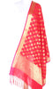 Red Art Silk Banarasi dupatta with greek key pattern jaal SSRVD01N113 (1) Main