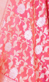 Red Katan Silk Banarasi Dupatta with sona rupa Floral jaal PCARS03S01 (2) CLOSE UP