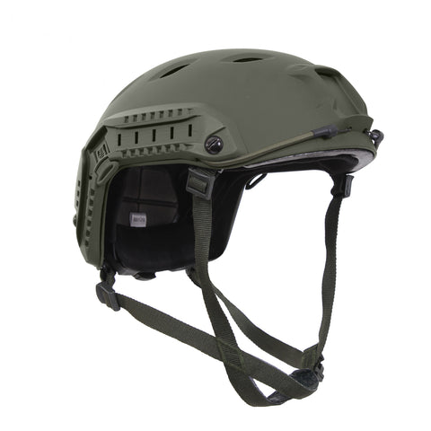 ROTHCO Tactical adjustable air soft Helmet with side rails