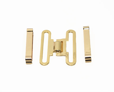 CHR Gold Plated Belt Keepers and Buckle Kit