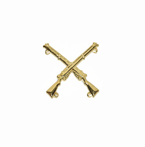 CHR Gold Plated Crossed Rifles