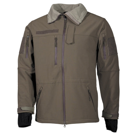 MFH Military Soft Shell Jacket OD Green