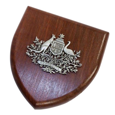 Presentation Plaque Australian Coat of Arms Plaque Large Pewter
