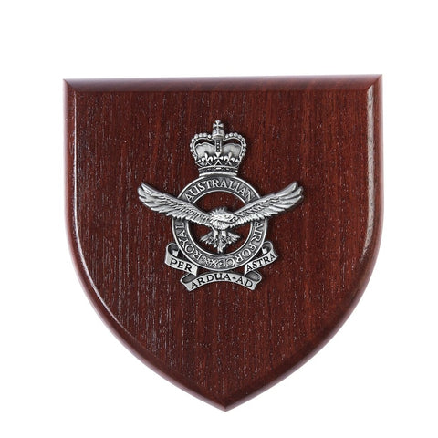 Presentation Plaque Royal Australian Air Force RAAF Plaque Large Pewter