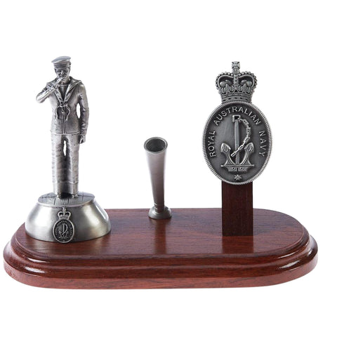 Desk Set Pewter Royal Australian Navy Desk Set with Sailor