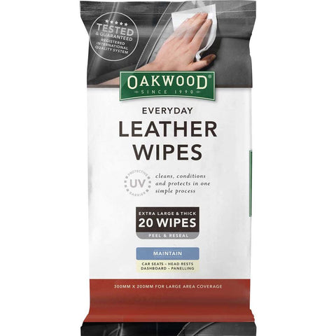 Oakood Everyday Leather Wipes