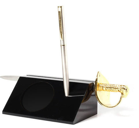 Desk Set Blank with Air Force Sword