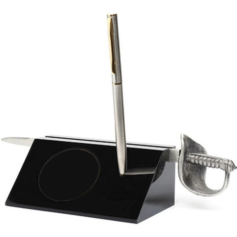 Desk Set Blank with Army Sword