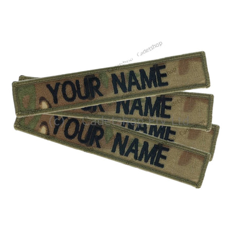 WEDGETAIL Embroidered Personalised Name Tag  Multicam