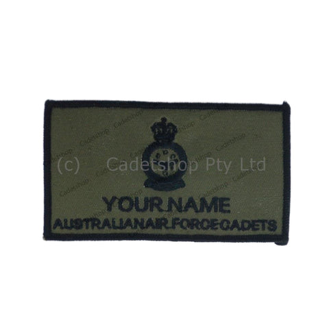 WEDGETAIL Name Tag AAFC Flying Jacket Non Pilot Black on Olive