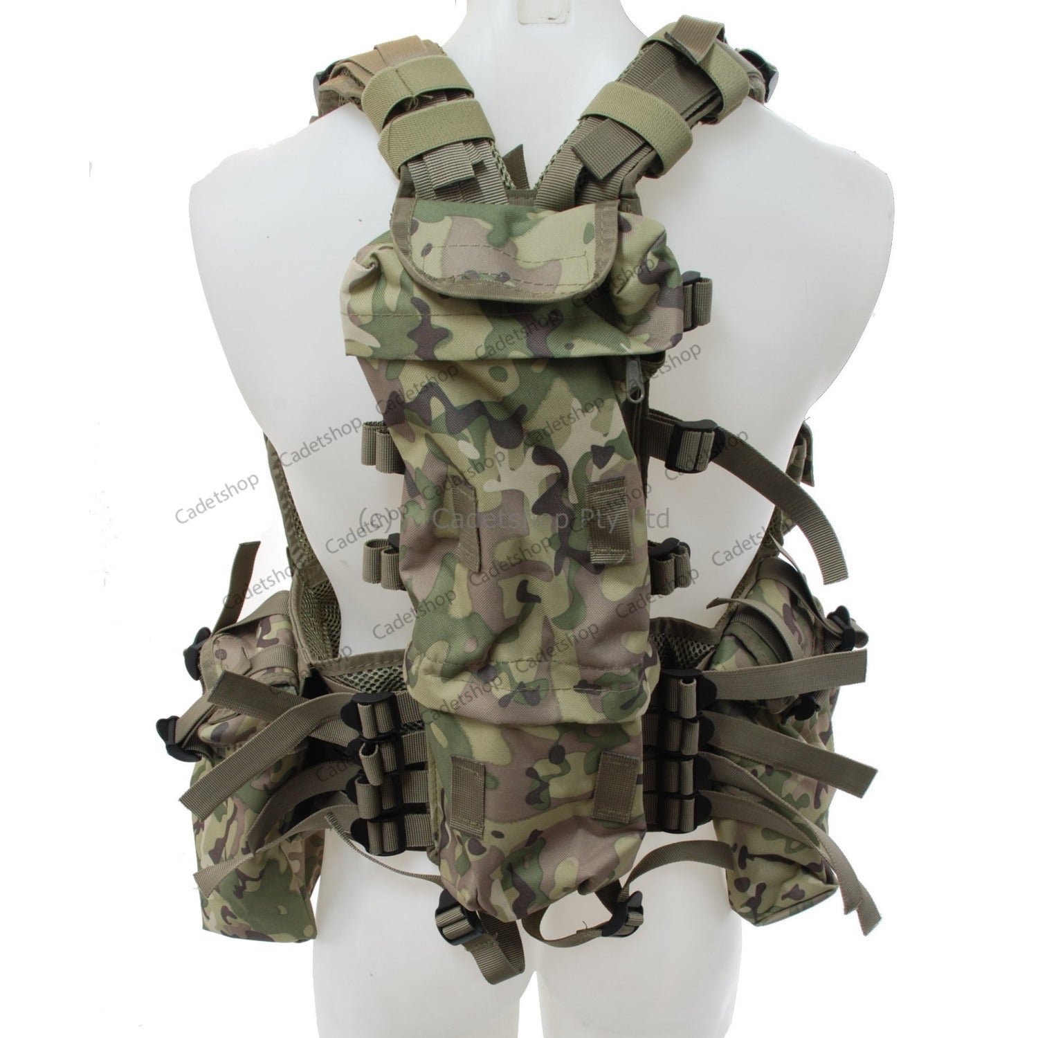 mfh tactical  MFH Tactical Vest Harness Operations Camouflage - Cadetshop