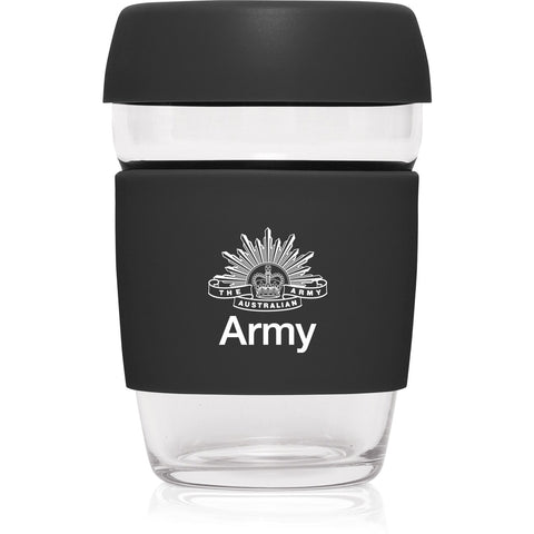 Reusable Glass Cup Australian Army